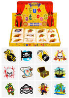 72 Pirate Temporary Tattoos (6 Bags Of 12) - Pinata Loot/Party Bag Fillers Kids