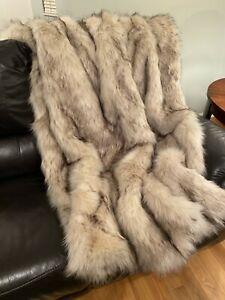 NEW RH Ultimate Faux Fur Throw WHITE LION 80x60
