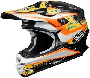 Shoei VFX-W Turmoil TC-8 Black/orange/White Off Road MX Helmet