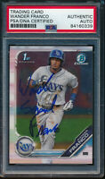 WANDER SAMUEL FRANCO AUTO 2019 Bowman Chrome Autograph Rookie RC PSA Authentic