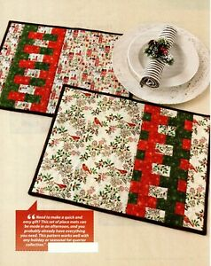 Festive Placemats Quilt Pattern Pieced ED