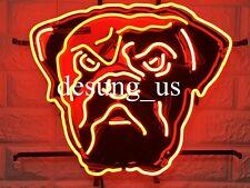 "New Cleveland Browns Bar Neon Light Sign 17"" Hd Vivid Printing Technology"