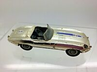 Vintage Corgi Toys No. 312 'E' Type Jaguar Competition Model Car 1960s Silver