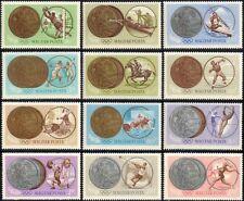 Hungría Juegos Olímpicos de 1965/Deportes/Medallas/disparos/Fútbol/esgrima 12 V (n44755)
