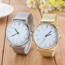 Moderne Armbanduhr Damen Herren Gold Silber Casual Quarzuhr Edelstahl NEU