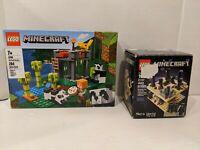 Minecraft Lego 21107 Micro World The End Panda Nursery 21158 PLEASE READ Q1P1