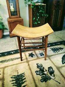 Antique Crocker Chair Co. Arts And Crafts Movement Bentwood Stool circa 1918