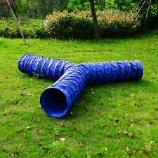 PawHut Cats Dog Agility Training Exercise 3 ways Tunnel Garden Outdoor Play Toy