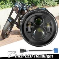 7'' Motorcycle LED Projector Headlight Hi-Lo Beam For Harley Davidson Dyna FLD