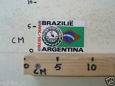 STICKER,DECAL WK ARGENTINA 1978 VOETBAL,SOCCER JH HENKES BRAZILIE BRAZIL