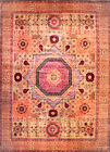 Hand-knotted Rug (Carpet) 8'10X12'3, Mamluk mint condition