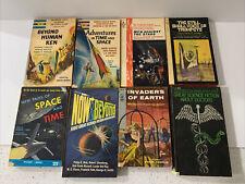 Lot Of 8 Vintage Science Fiction Paperback , Anthologies