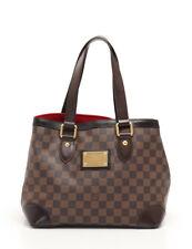 LOUIS VUITTON Hampstead PM Damier Ebene tote bag PVC leather brown