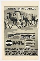 1909 Remington Rifle Ammunition Big Game Fire Arms Africa Advertising Print Ad