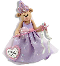 PRINCESS Girl Personalized Christmas Ornament Polymer Clay by Deb & Co.
