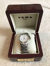 Yema Paris Silver Wristwatch YM815 100m - New in Box With Tag (Needs Battery)