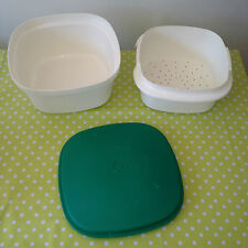 Vintage TUPPERWARE Retro Lettuce Water Drainer / Salad Mixer Kitchen Container