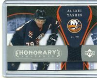 2007/08 UD TRILOGY HONORARY SWATCHES ALEXEI YASHIN HS-AY ISLANDERS