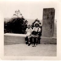 """Little Boy and Girl Saddle Shoes - Vintage 1950's B&W Photograph 3 1/2"""" x 3 1/2"""""""