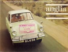 Ford Anglia 105E 1963-64 UK Market Foldout Sales Brochure Standard De Luxe Super