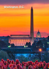 3D Lenticular Animated Postcard-  Washington Monument Day and Night