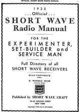 1935 Official Short Wave Radio Manual * Service * Repair * CDROM * PDF