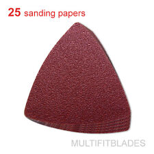 25 Pack: 60 Grit MultiTool Triangular Sanding Sheets - Fein, Bosch, Craftsman +