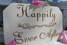 "Lazer engraved Wedding signs"" Happily Ever After"""