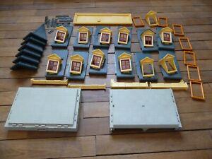 lot piece maison victorienne playmobil 5301 : plancher, toit, chien assis, angle