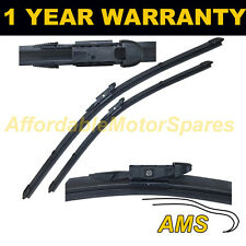 """FOR NISSAN QASHQAI +2 2008 ON DIRECT FIT FRONT AERO WIPER BLADES PAIR 24"""" + 15"""""""