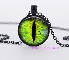Dragon eye Cabochon Glass Necklace charm fashion Black pendants #513