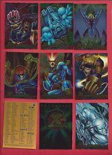 1995 Fleer Ultra Marvel X-Men Wolverine Timeline Chromium U pick 3 cards NM/M