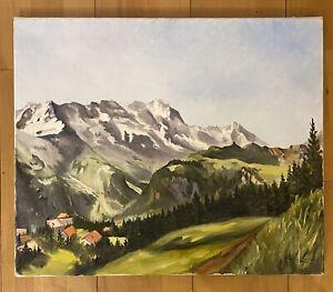 Gemälde - Landschaft, Landschaftsmalerei Gebirge / Malerei