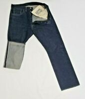 BIG E Levis vintage Jeans size 34x34 S501 XX dark blue selvedge denim red tab
