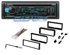 KENWOOD CAR STEREO RADIO WITH AUXILIARY INPUT & DASH INSTALLATION KIT & WIRING