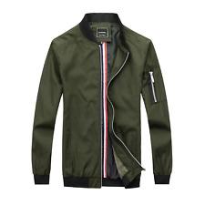 Mens Dylan Harrington Bomber Jacket Military Zip Up Coat Green Navy Black S-XXL