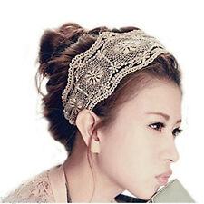 Head Band Decorative Hair Holder Elastic Strap Laced Flowers Design Fashion