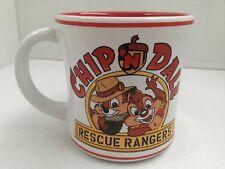 Disney Parks CHIP 'N DALE  RESCUE RANGERS Ceramic Coffee Mug Cartoons 90's 13 oz