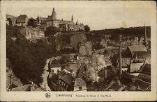 Luxembourg Luxemburg s/w AK ~1920/30 gelaufen Faubourg du Grund et Ville Haute