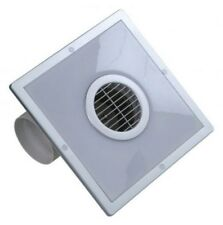 "Bathroom Ceiling Extractor Fan 100mm / 4"" with Energy Saving Lamp ECFL-16S"