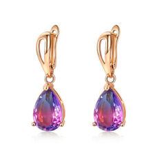 18K Gold Mystic Topaz Earrings Teardrop Drop Dangle Earrings Jewelry
