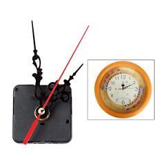 Mini Quartz Clock Movement Mechanism Long Spindle Red Hands Repair DIY Kit Super