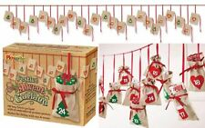 Fabric Bunting Christmas Advent Calendar Garland