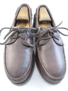 """Allen Edmonds """"FORCE 10"""" Boat Shoes 7 D  Brown   (334)"""