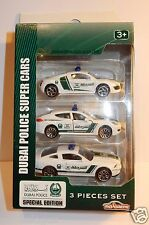 Majorette 3 inches Coffret Police Dubai Porsche Panamera Audi R8 Ford Mustang