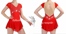 Popuplar Ice skating dress  Figure Skating Dance Baton Twirling Costume red