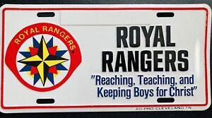 ROYAL RANGERS License Plate Advertisement Reaching Teaching Keeping Boys Christ
