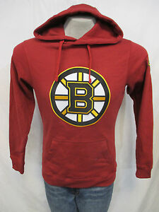Boston Bruins Men Small Maroon Logo Hooded Sweatshirt 'SCANLON 86' on Back