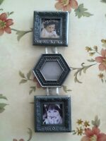 """Burnes Of Boston Picture Frame Holds Three 2"""" x 2"""" Photos"""