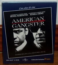 AMERICAN GANGSTER COMBO BLU-RAY+DVD NUEVO PRECINTADO THRILLER (SIN ABRIR) R2